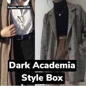Dark academia style mystery box